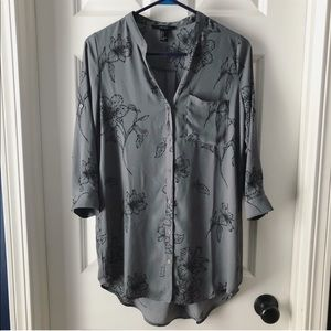 F21 Button Down Tunic Shirt